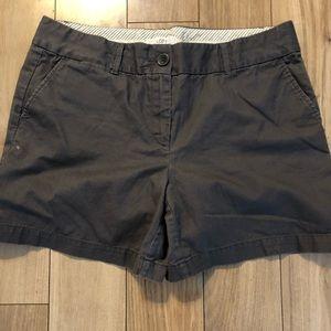 "Dark grey LOFT shorts 5"" inseam"
